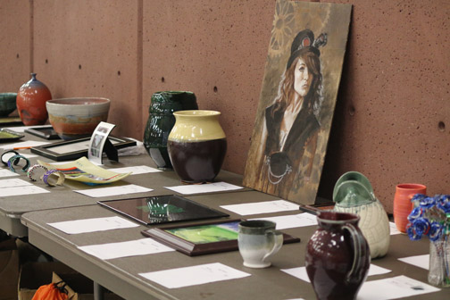 pictures of silent art auction